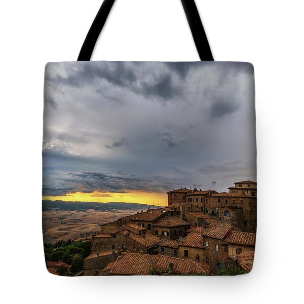 Sunset In Volterra Tote Bag