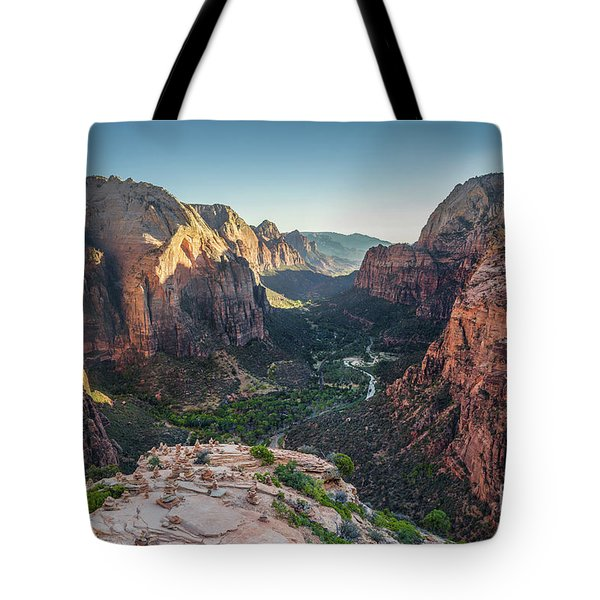 Sunset In Zion National Park Tote Bag by JR Photography