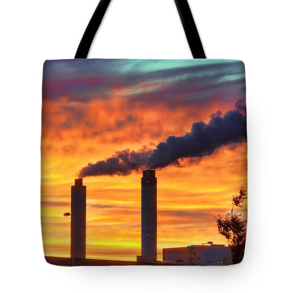 Sunset Industry Tote Bag by Nadia Sanowar