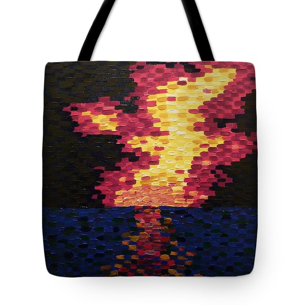 Tote Bag featuring the painting Sunset by Joshua Redman