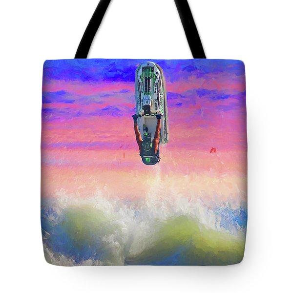 Sunset Jumper Tote Bag