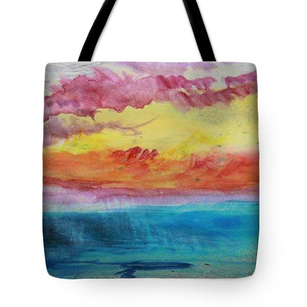 Sunset Lagoon Tote Bag