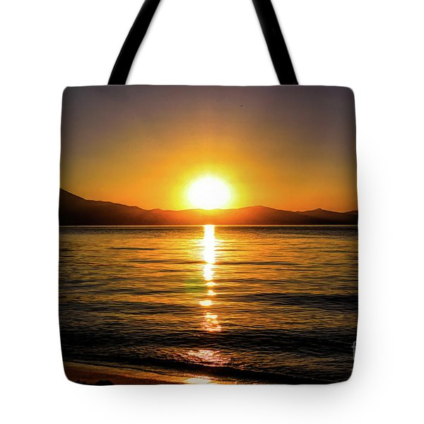 Sunset Lake 1 Tote Bag