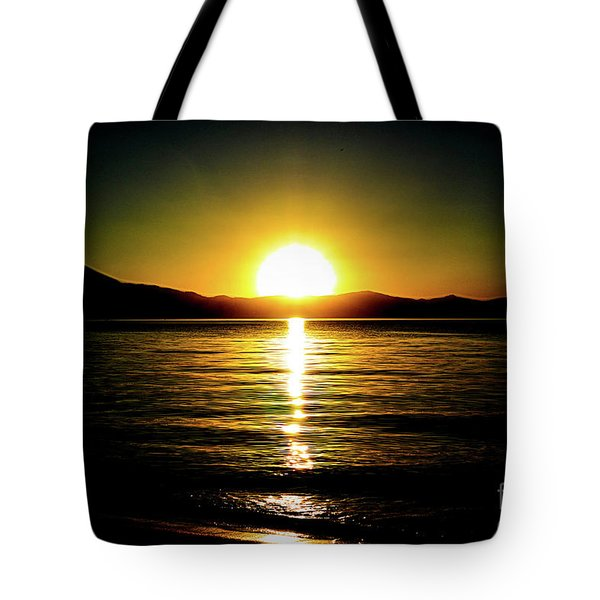Sunset Lake 2 Tote Bag