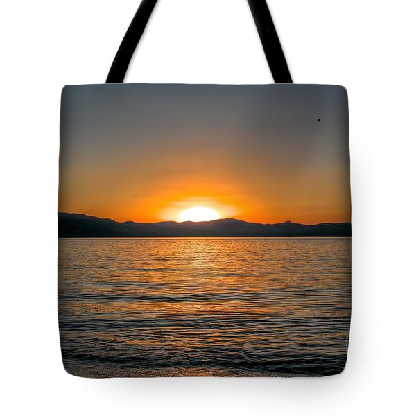 Sunset Lake 3 Tote Bag