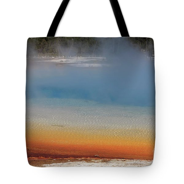 Sunset Lake In Black Sand Basin Yellowstone National Park Tote Bag by Louise Heusinkveld