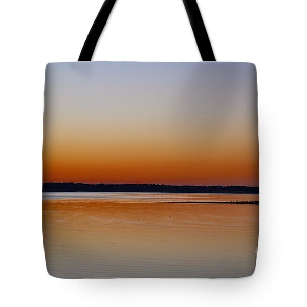Tote Bag featuring the photograph Sunset Lake Texhoma by Diana Mary Sharpton