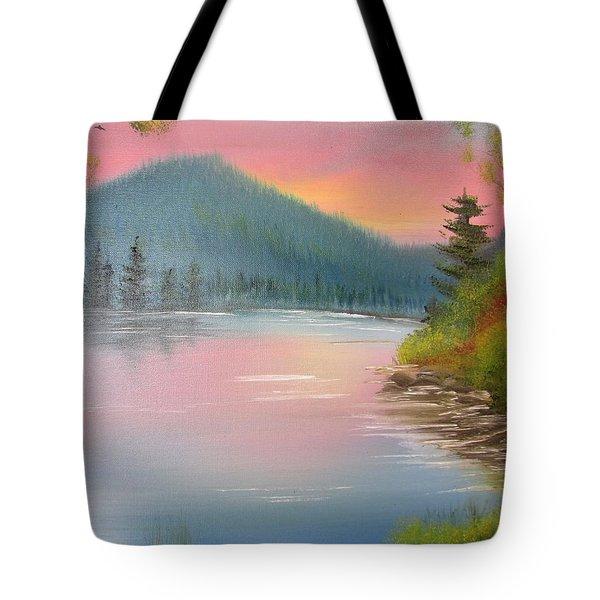 Sunset Lake Tote Bag