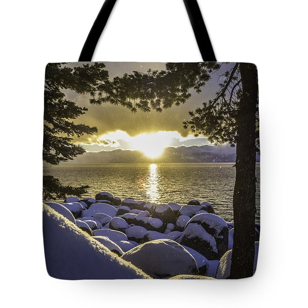 Sunset Light Lake Tahoe Tote Bag