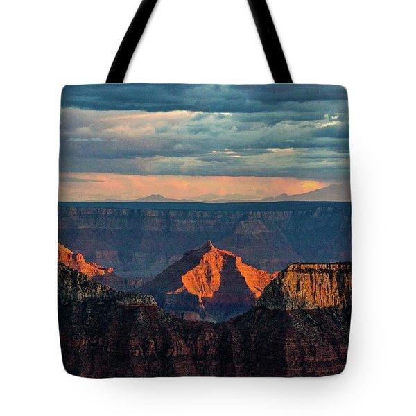 Sunset Lights Angels Gate Tote Bag