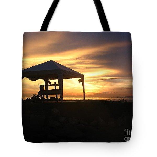 Sunset Massage Tote Bag