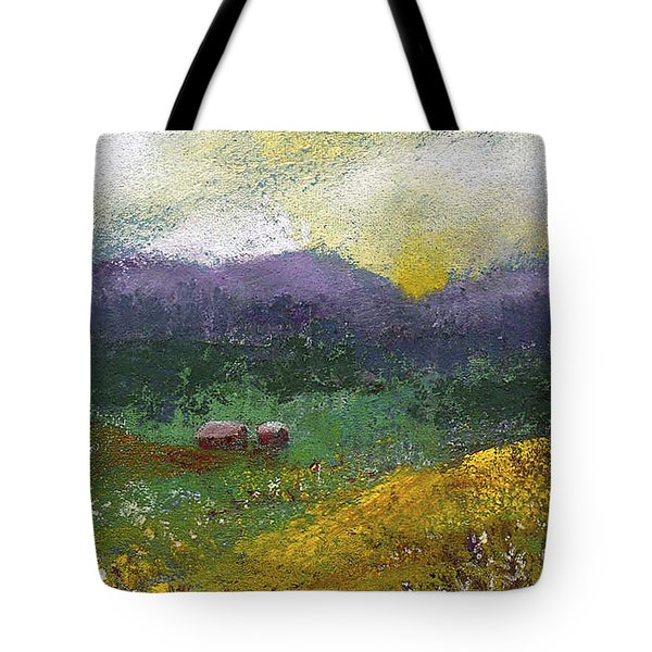 Sunset Meadow Tote Bag by David Patterson