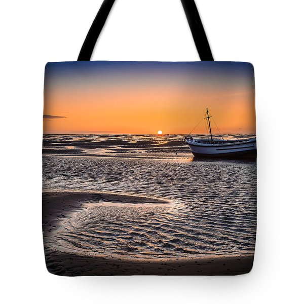 Sunset, Meols Beach Tote Bag