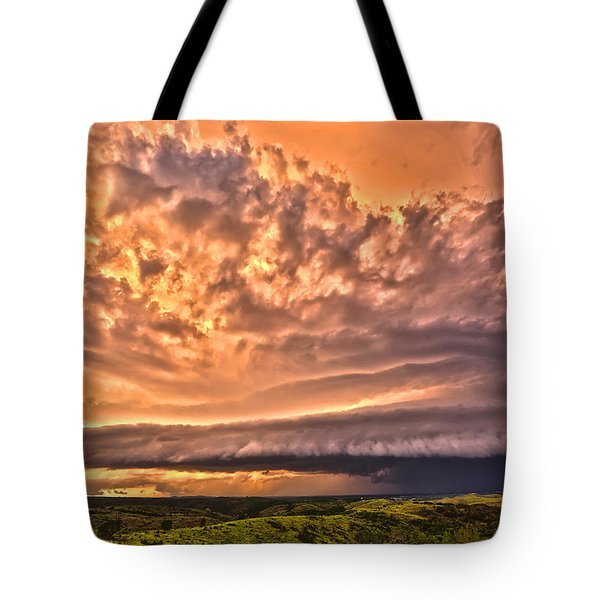 Sunset Mothership Tote Bag by James Menzies