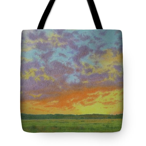 Sunset Near Miles City Tote Bag