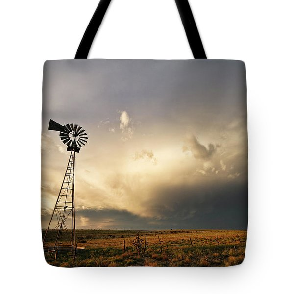 Sunset Near Santa Rosa New Mexico Tote Bag