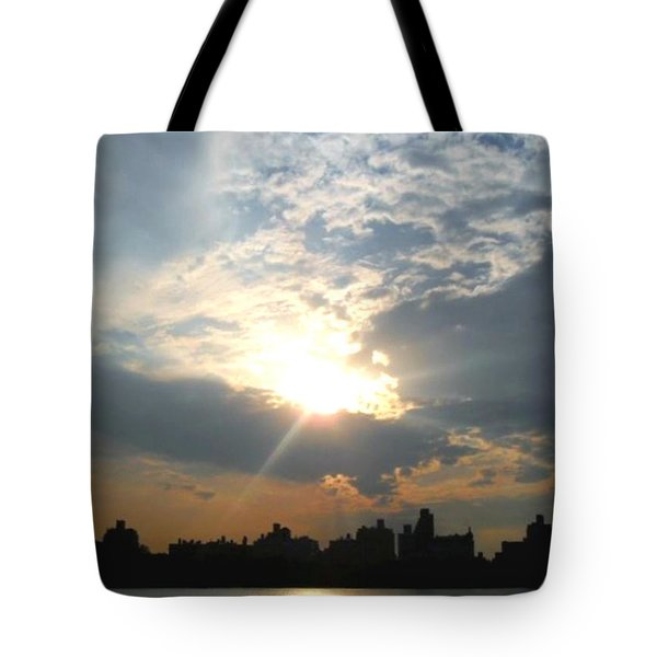 Sunset New York  Tote Bag