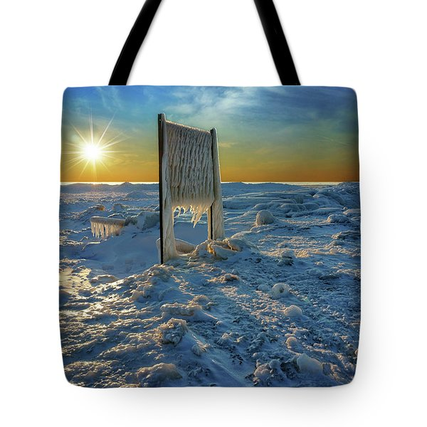 Sunset Of Frozen Dreams Tote Bag
