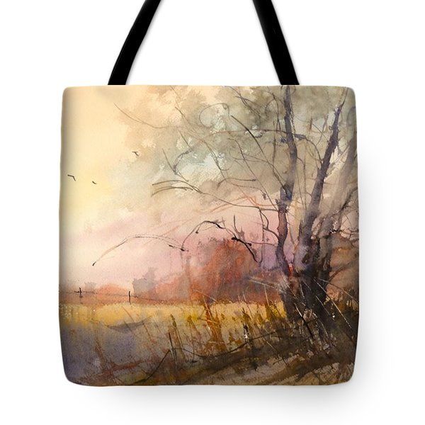 Sunset On 108th Tote Bag