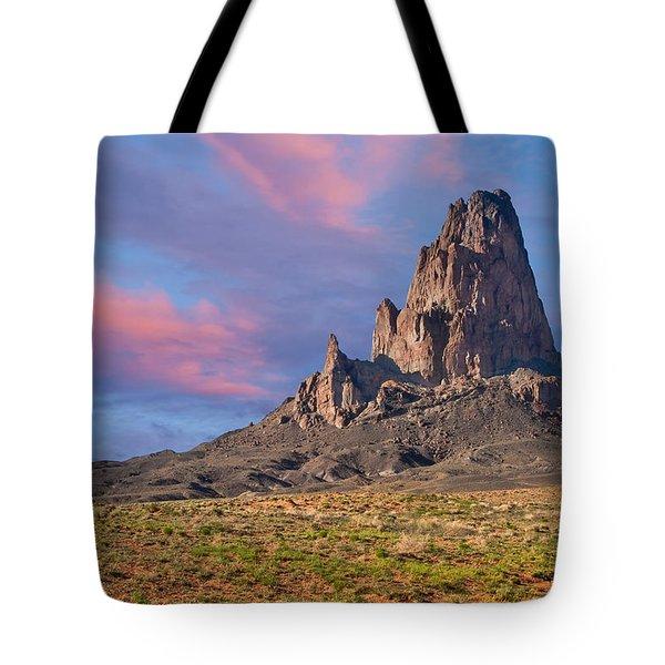 Sunset On Agathla Peak Tote Bag by Jeff Goulden