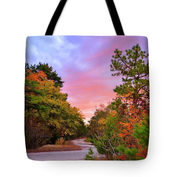 Sunset On Bombing Run Road Tote Bag