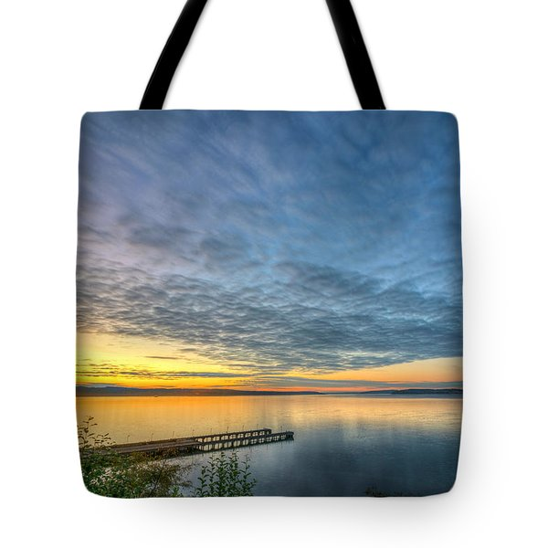Sunset On Boulevard Bluffs Tote Bag