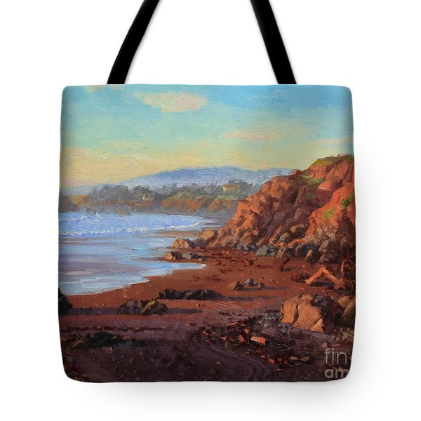 Sunset On Cambria Ca Tote Bag by Gary Kim