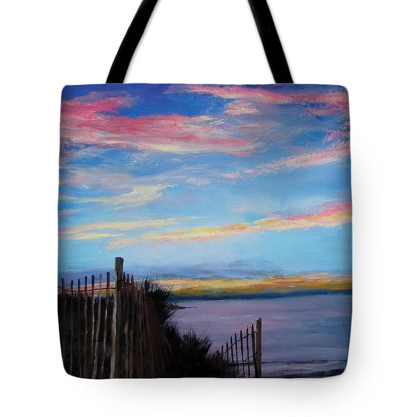 Sunset On Cape Cod Bay Tote Bag by Jack Skinner