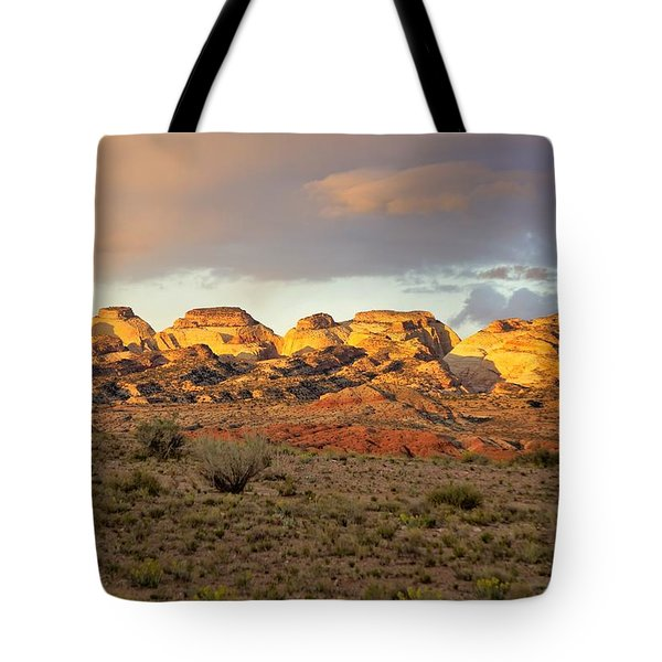 Sunset On Capitol Reef Tote Bag