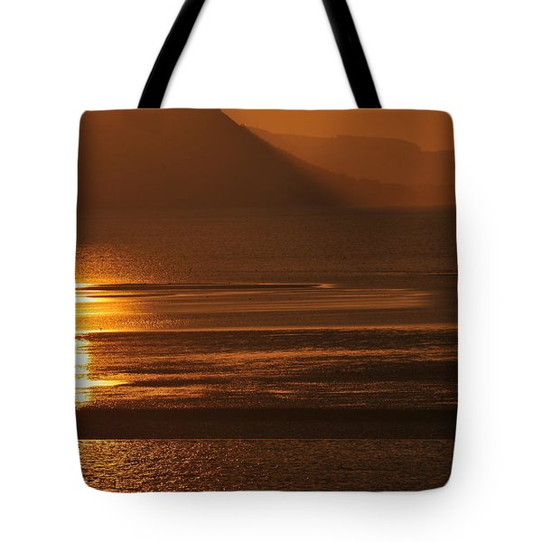 Sunset On Coast Of North Wales Tote Bag by Harry Robertson