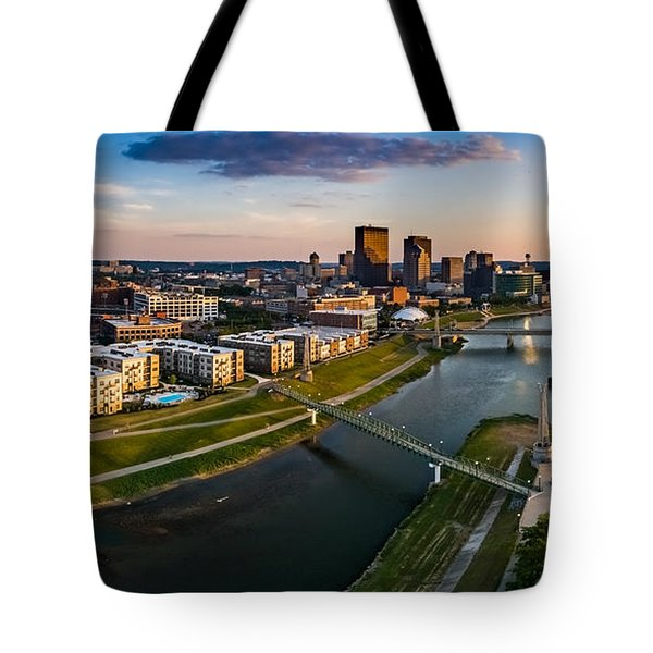 Sunset On Dayton Tote Bag