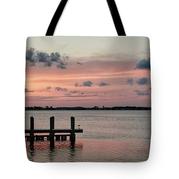 Sunset On Fenwick Island Tote Bag