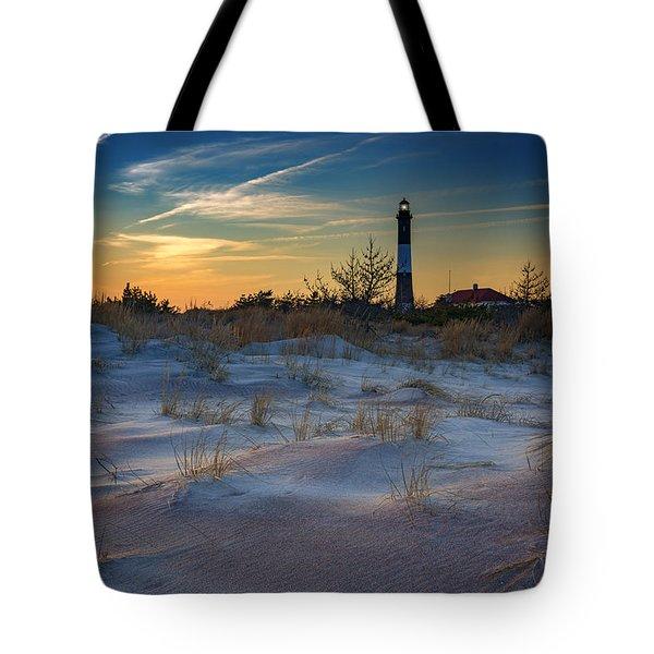 Sunset On Fire Island Tote Bag by Rick Berk