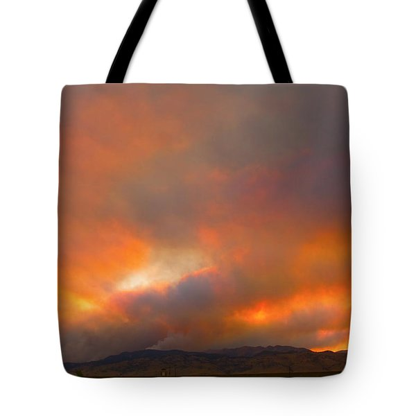 Sunset On Fire Tote Bag by James BO  Insogna