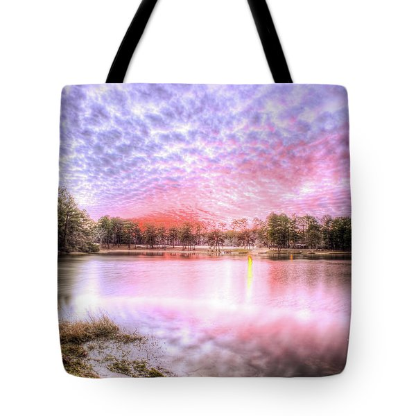 Sunset On Flint Creek Tote Bag by Maddalena McDonald