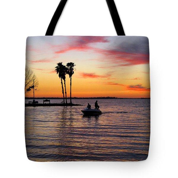 Sunset On Lake Dora At Mount Dora Florida Tote Bag
