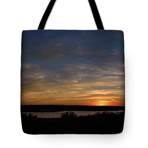 Sunset On Lake Georgetown Tote Bag