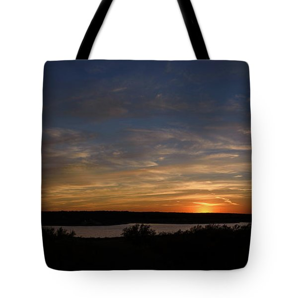 Sunset On Lake Georgetown Tote Bag