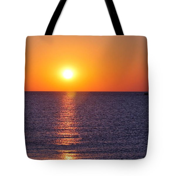 Sunset On Lake Michigan Tote Bag by Bruce Patrick Smith