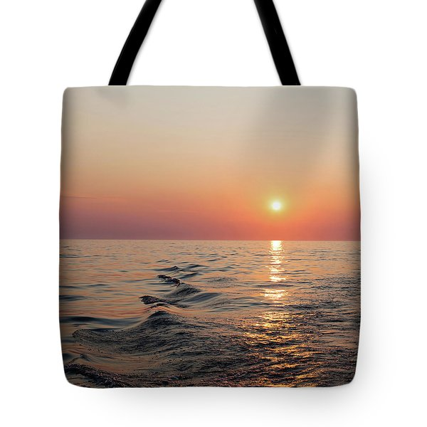 Sunset On Lake Michigan Tote Bag by Melanie Alexandra Price
