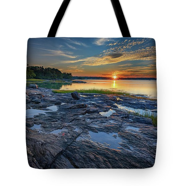 Sunset On Littlejohn Island Tote Bag