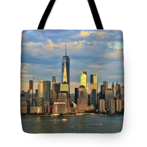 Sunset On Lower Manhattan Tote Bag