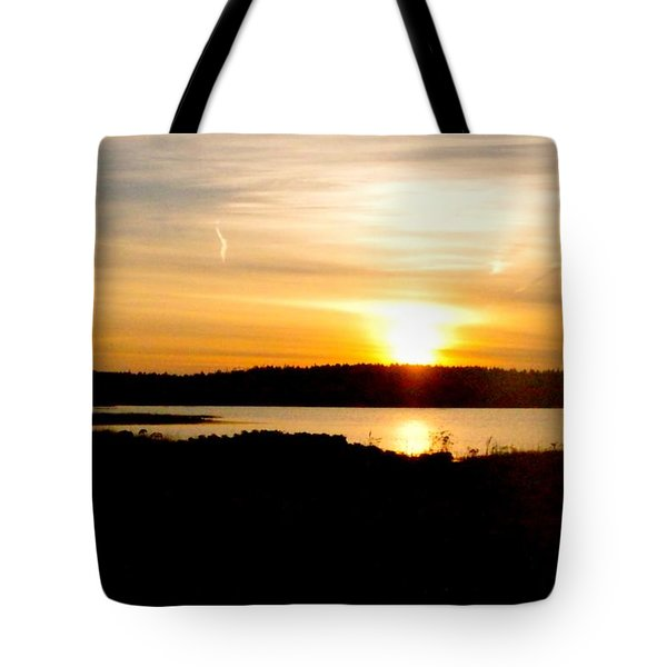 Sunset On Morrison Beach Tote Bag