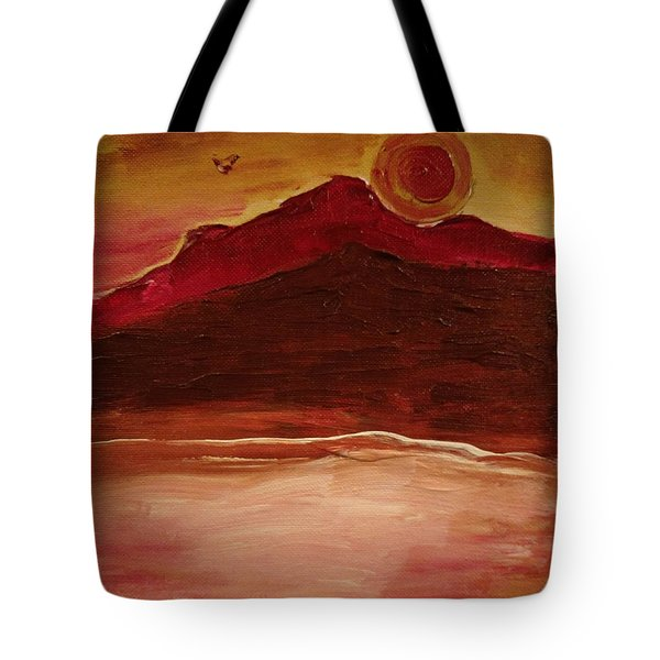 Sunset On Red Mountain Tote Bag