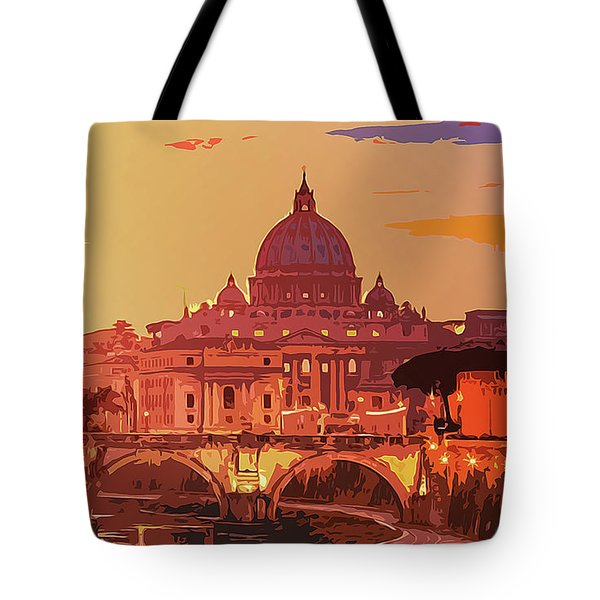 Sunset On Rome The Eternal City Tote Bag