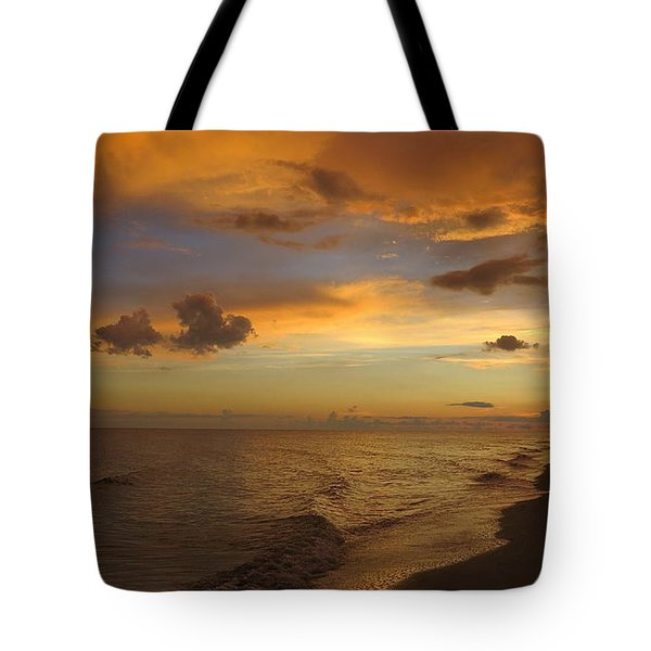 Tote Bag featuring the photograph Sunset On Sanibel Island by Melinda Saminski