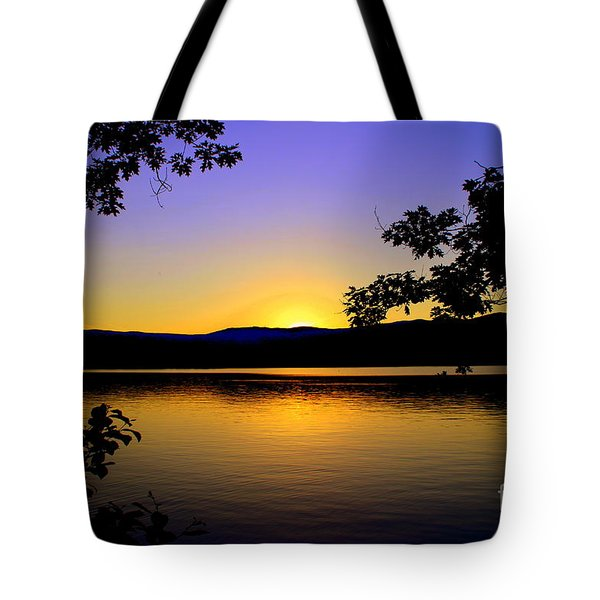Sunset On Squam Lake Tote Bag
