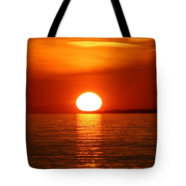 Sunset On Superior Tote Bag