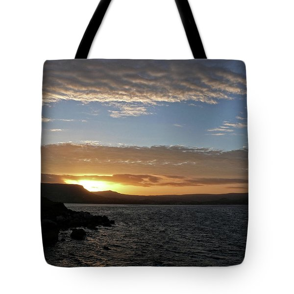 Sunset On The Antrim Coast Road. Tote Bag