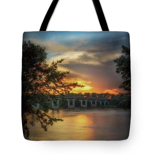 Sunset On The Arkansas Tote Bag
